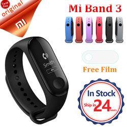 D'origine Xiaomi mi bande 3 instant message appelant ID étanche OLED tactile écran prévisions Météo horloge Fitness Tracker Miband 3