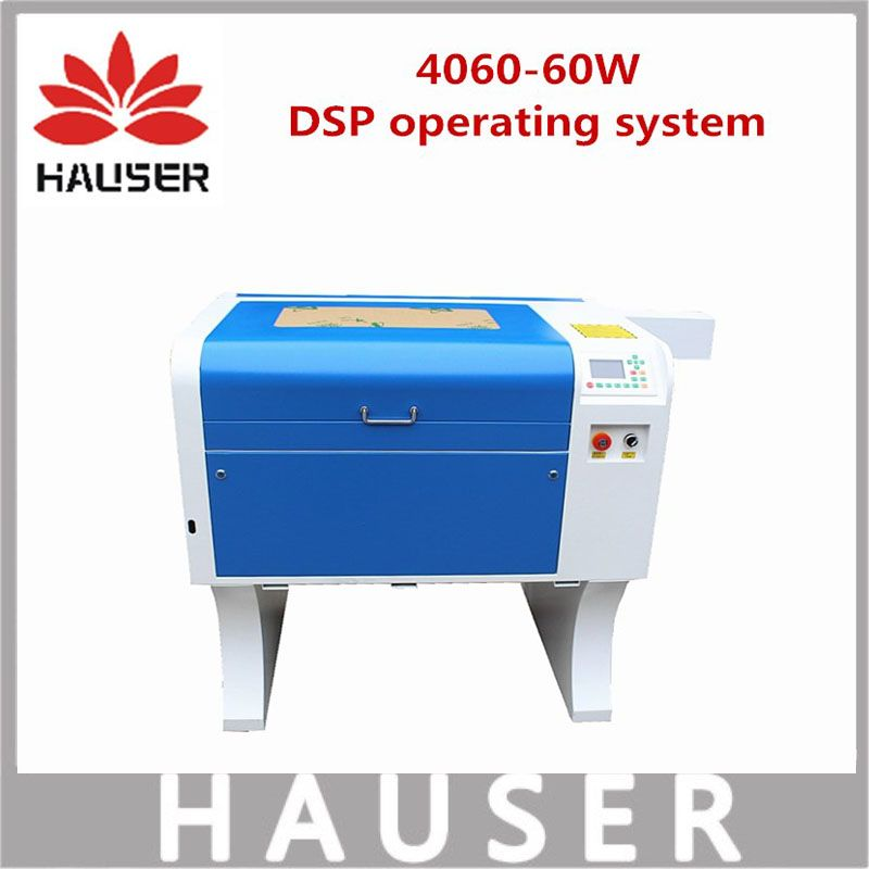Free Shipping HCZ 60w co2 laser CNC 4060 laser engraving cutter machine laser marking machine mini laser engraver cnc router diy