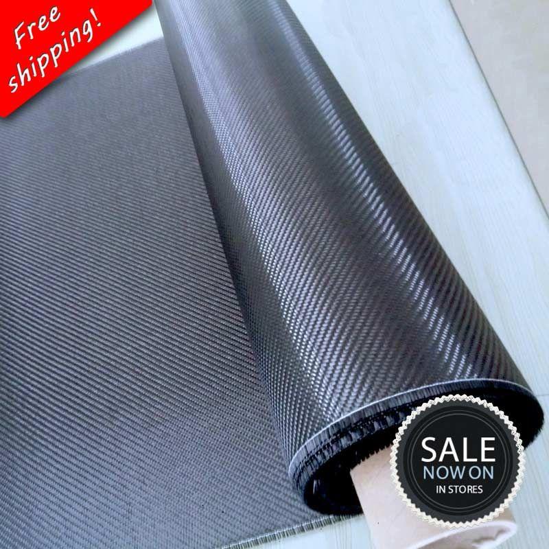 Free shipping [Grade A+] 100% Real Carbon Fiber Cloth 32/82cm <font><b>width</b></font> 3K 5.9oz / 200gsm 2x2 twill Carbon Fabric [SHIP BY ROLL UP]