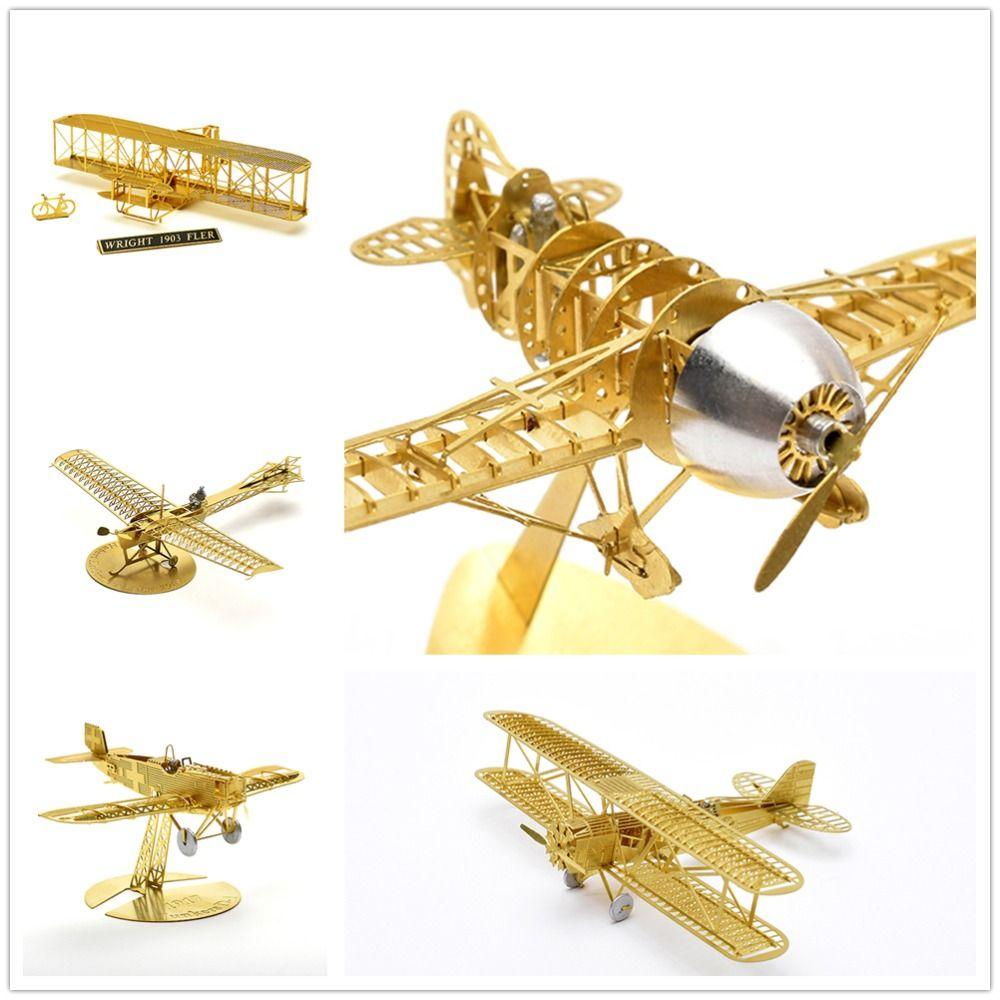 Collecti1/160 Etrich Taube la seconde guerre mondiale, la restauration de l'ancienne colombe ancienne école 3D assemblé métal modèle Puzzle