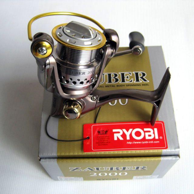 RYOBI angelschnur reel ZAUBER 1000/2000/4000 spinnrolle metallköder rad upgrade metall griff glatte 100% original