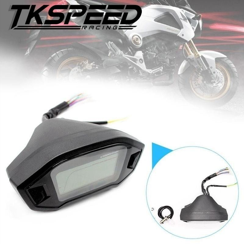 Universal Motorcycle LCD Digital Speedometer Odometer Backlight Motorcycle for 2,4 Cylinders 1300r/min