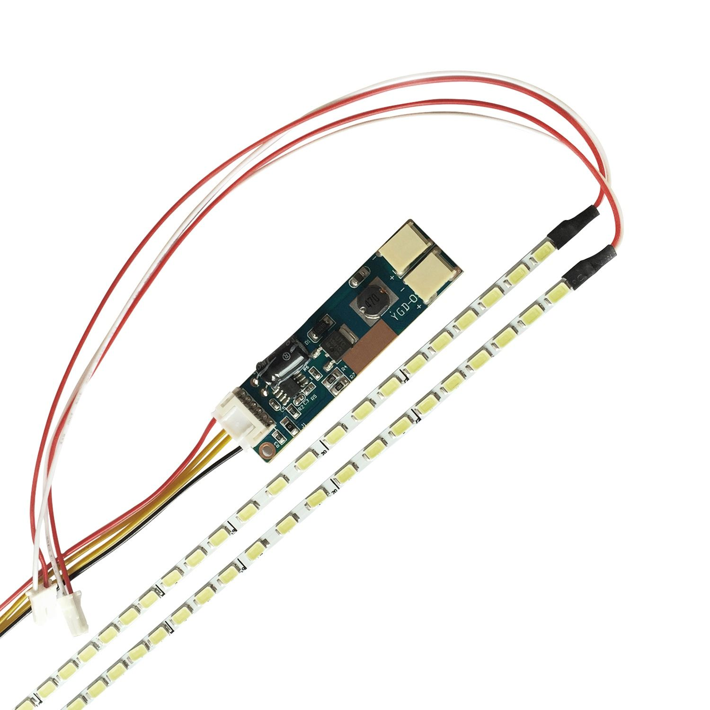 Universal Highlight Dimmable LED Backlight Lamps Update kit Adjustable LED Light For LCD Monitor 2 LED Strips