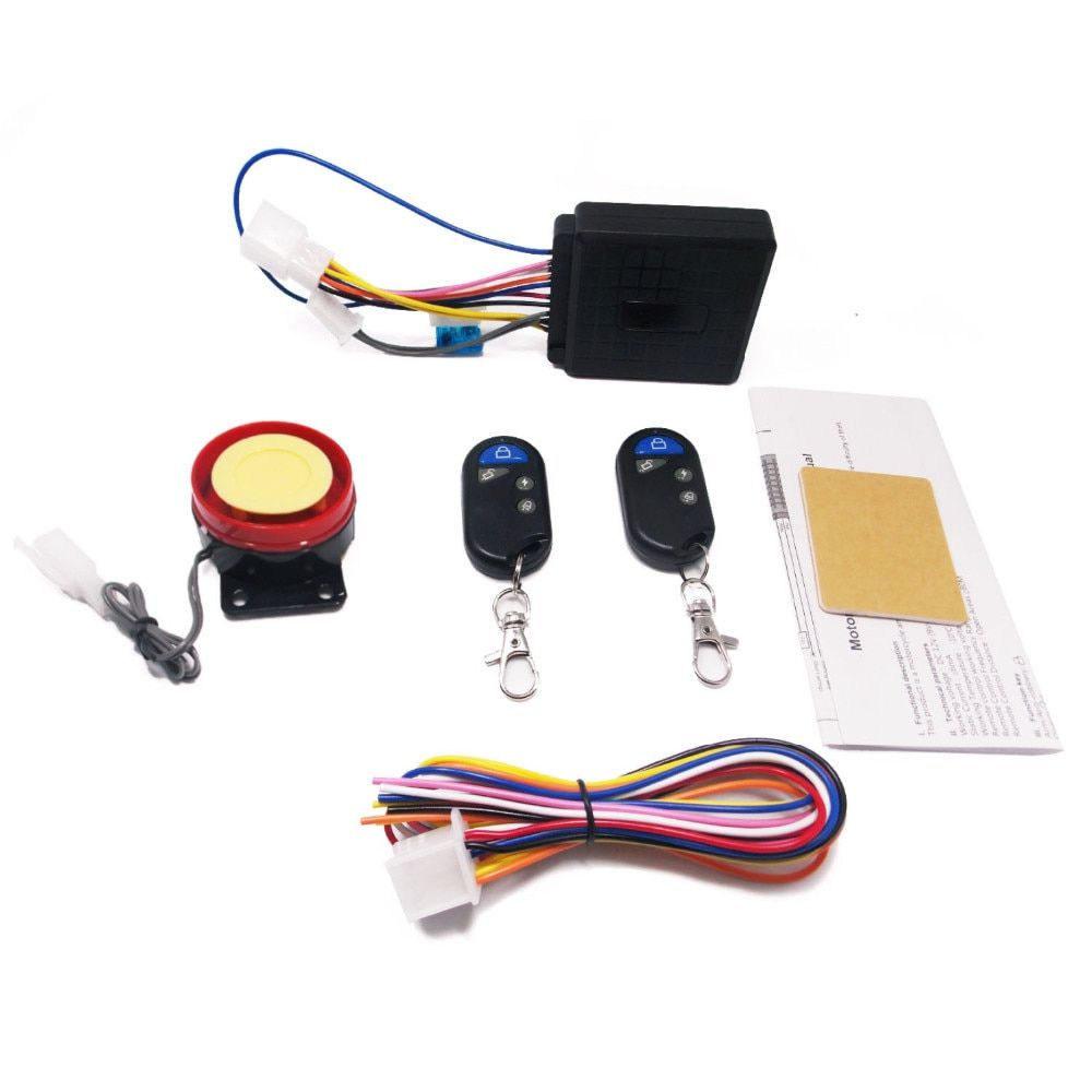1 Way Motorcycle Universal Security Alarm Auto Scooter System Bike Immobiliser Remote Control Motorbike Push Engine Start Stop