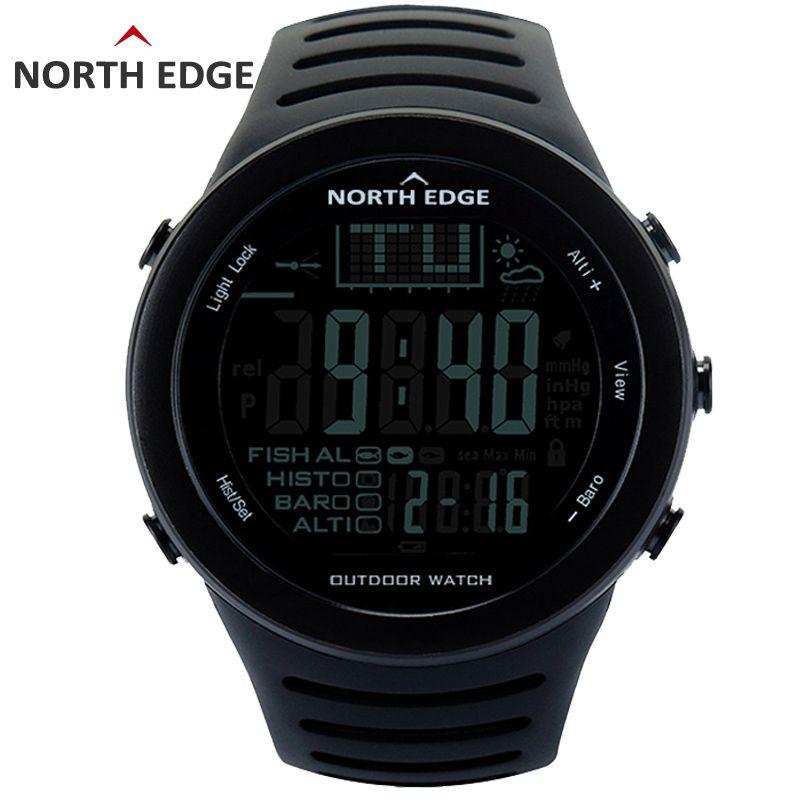 Bord nord pêche altimètre baromètre thermomètre Altitude hommes montres numériques intelligentes sport escalade randonnée horloge Montre Homme
