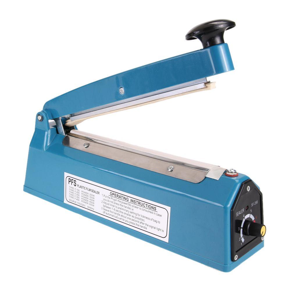 Hochwertigen Energiespar Hand Sealer Druck Impulse Heat Manuelle Dichtungsmaschine Kunststoff Poly Tasche Näher Kit