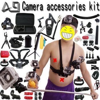 A9 для Gopro аксессуары набор для go pro hero 6 5 4 3 комплект крепление для SJCAM SJ4000/xiaomi yi/Eken H9/sony экшен-камера штатив