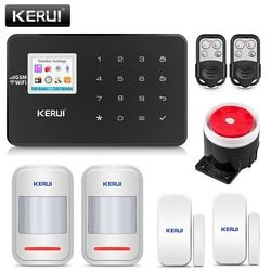 KERUI W18 Wireless Home Alarm Wifi GSM IOS/Android APP Mental Remote Control LCD GSM SMS Burglar Security Alarm System  Security