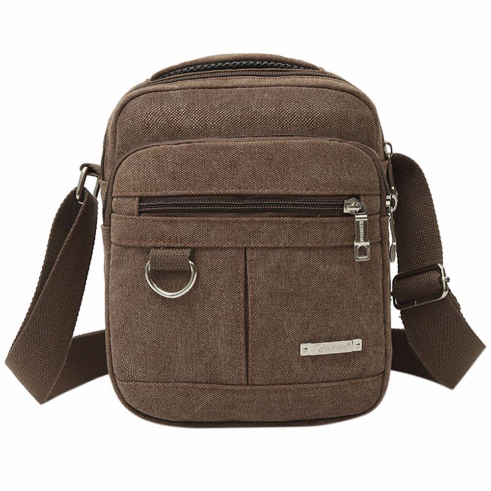 Hommes sacs de voyage loisirs Mode Toile Mâle Doux Réglable Bandoulière sac à bandoulière Étudiant Militaire Zipper sac de messager 2019