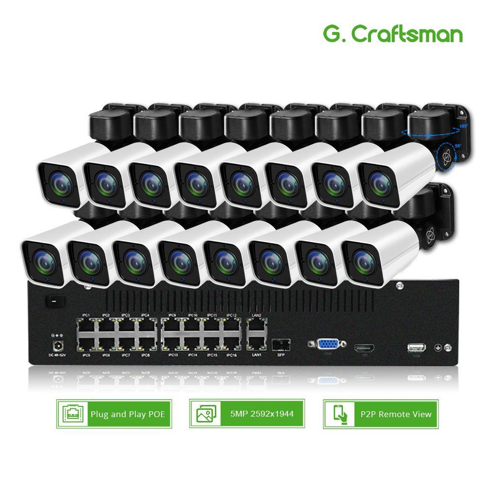 16ch 5MP POE PTZ IP Kamera System Kit H.265 2,8-12mm 4X Optische Zoom CCTV Sicherheit Im Freien Wasserdichte bis zu 32ch 5.0MP Register