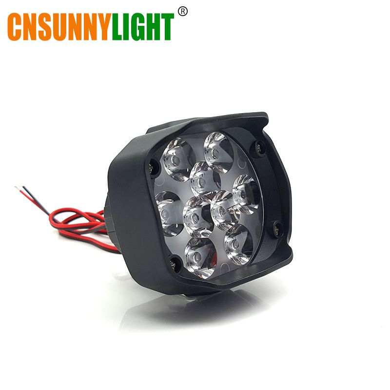 CNSUNNYLIGHT Motorbike Scooter LED Spotlight Motorcycles Headlight 10W 1500Lm 6500K White Drive Working Spot Lights Fog Lamp