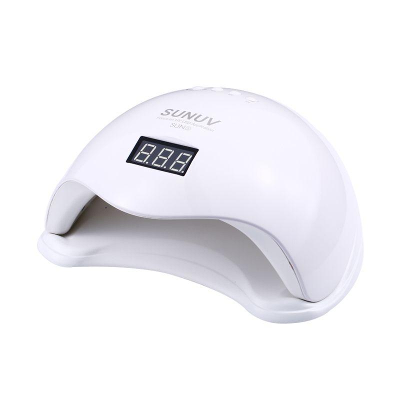 SUN5 48W White Light Professional LED&UV Lamp For Gel Machine Infrared Sensor Timer Set Gel All UV Gel Nail Polish gel nail lamp