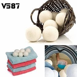 Laundry Clean Ball 6pcs/pack Reusable Natural Organic Laundry Fabric Softener Ball Premium Organic Wool Dryer Balls