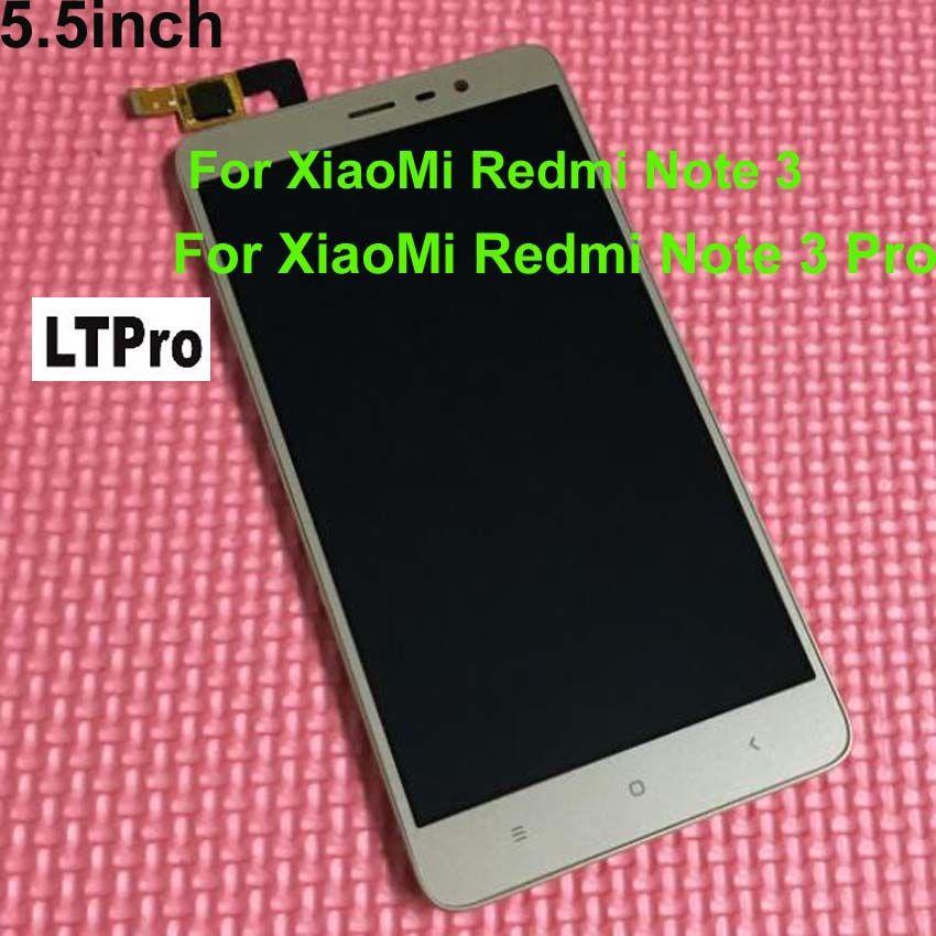 LTPro noir/blanc/or LCD affichage écran tactile numériseur assemblée + cadre pour Xiaomi Redmi note 3 hongmi note3/Note 3 Pro 150mm