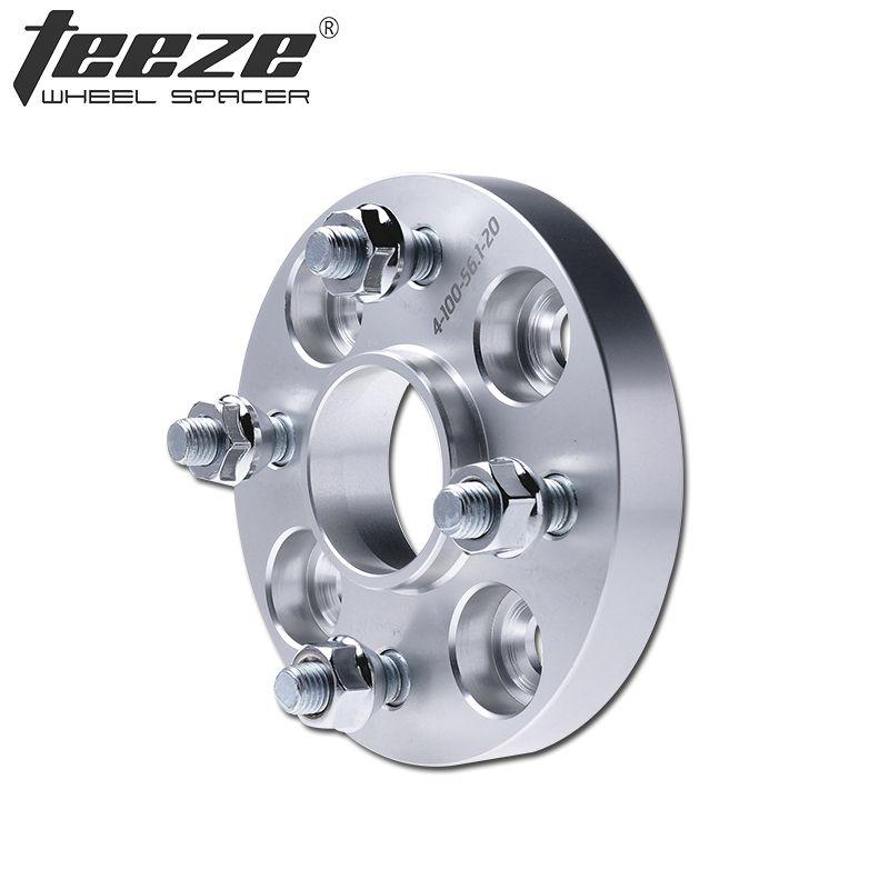 TEEZE-(1 STÜCK) auto-styling Aluminium räder 4x100 57,1 Spurverbreiterungen Adapter für VW Caddy Jetta Golf 1 2 3 auto reifen rad adapter