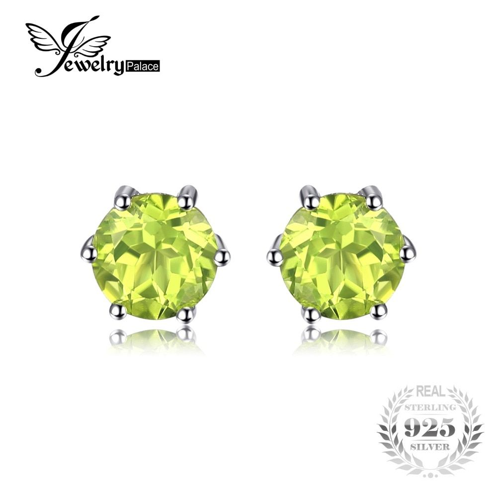 JewelryPalace Natural Peridot Earrings Stud Genuine 925 Sterling Silver Jewelry Fabulous Vintage Gemstone Jewelry 2016 Brand New