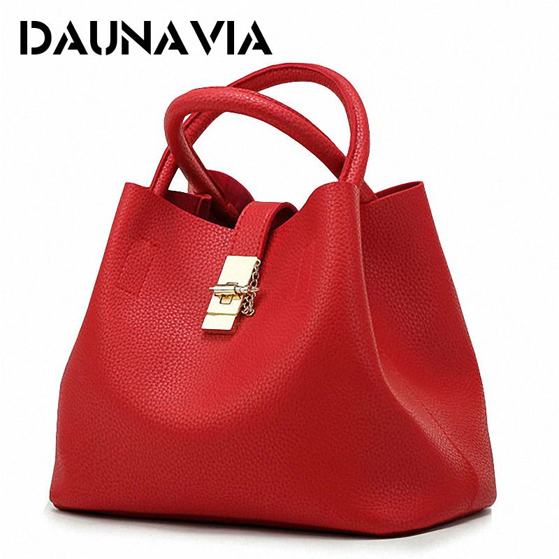 DAUNAVIA- 2018 Vintage Women's Handbags Famous Fashion Brand Candy Shoulder Bags Ladies Totes Simple Trapeze Women <font><b>Messenger</b></font> Bag