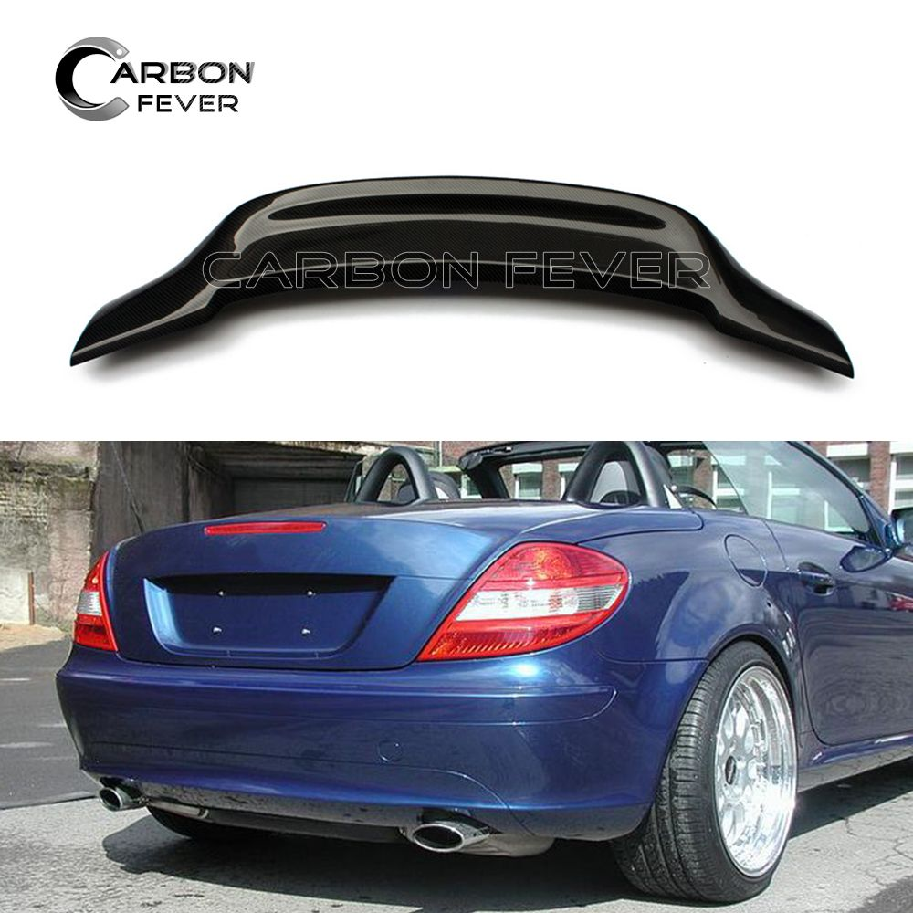 Carbon Fiber Rear Spoiler Wing Boot Tail Lip For Mercedes R171 SLK Class 2004 - 2010 SLK300 SLK350 SLK200