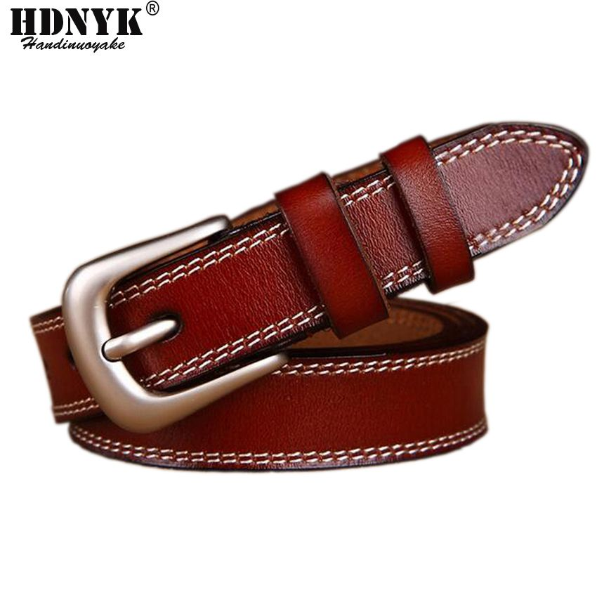 Lowest Price 2017 Hot Design Famous Brand Luxury Belts Women Real Cow Leather Belts Female Waist Strap Alloy Buckle Waistband