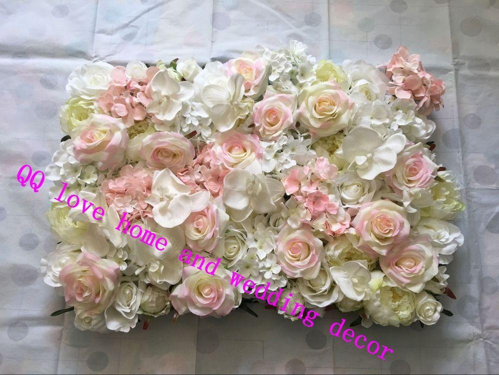 10 шт./лот искусственного шелка Роза бабочка цветок орхидеи Wall свадебный фон гортензии пион фаленопсис Роуз роуд привести