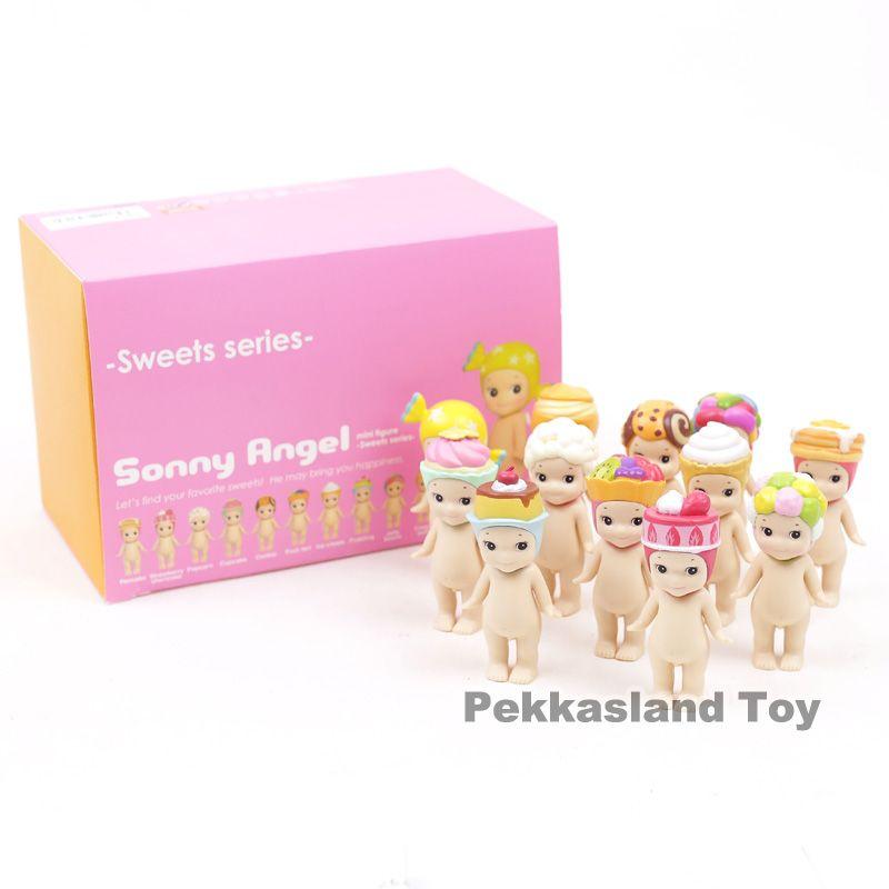 Sonny Angel 2017 Sweets Series Cookie Popcorn Konpeito Mini PVC Action Figures Collectible Model Toys Dolls Gift 12pcs/set 8CM