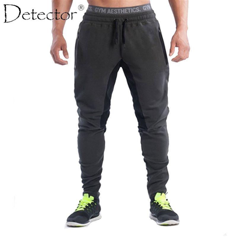 Detector Mens Running Fitness Pants Elastic Drawstring Trousers Sportwear Men Outdoor Sport Clothing