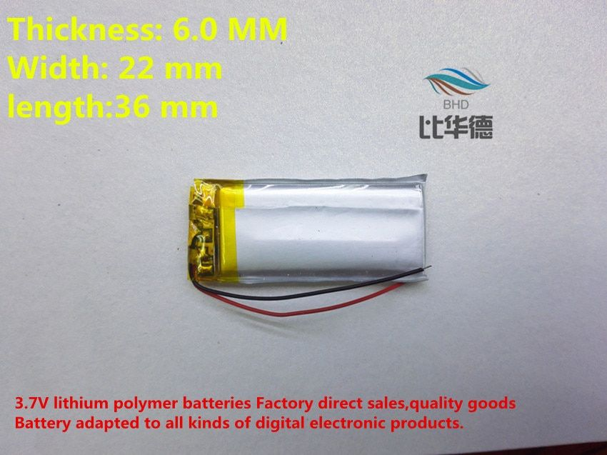 (free shipping) 602236 450mah lithium-ion polymer battery quality goods quality of CE FCC ROHS certification authority