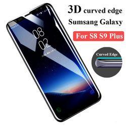 3D Courbe Pleine Couverture Écran Protecteur Pour Samsung Galaxy S8 Trempé verre Pour Samsung S8 S9 Plus Note 8 S7 Bord Protection Film