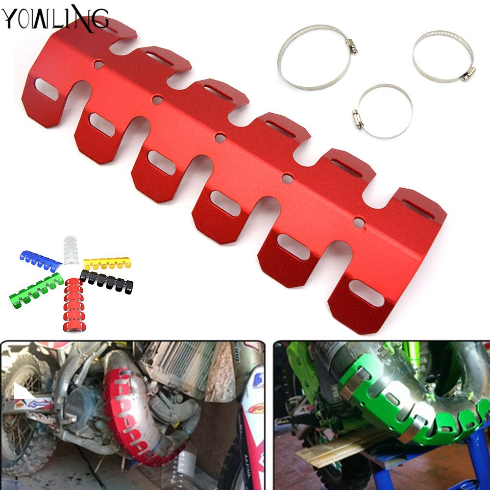 Off-road Exhaust Muffler Pipe Guard Protector Heat Shield For HONDA CR80 CR85 CR125 CR250 CRF50 CRF70 AR F L M R X