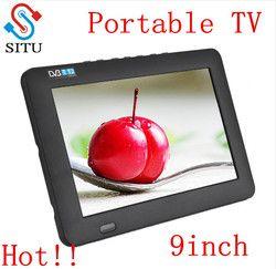 HD DVB-T2 DVB-T Digital Dan Analog TV 9 inch Mini Led HD Portabel TV Semua dalam 1 Dukungan USB merekam program Televisi