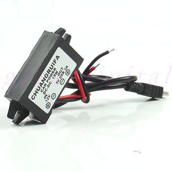 USB De Voiture Adaptateur DC 12 V à 5 V 3A 15 W Étanche DC Converter Mini