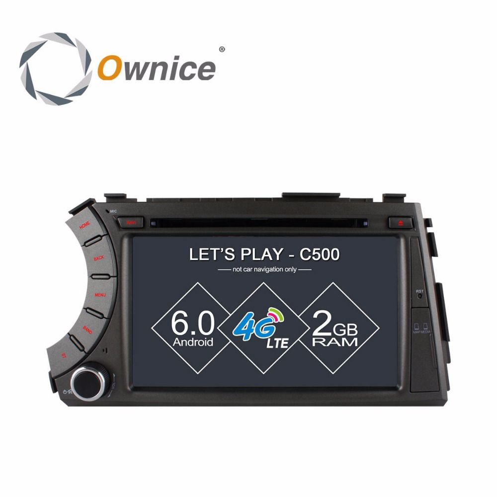 Ownice C500 4G SIM LTE Android 6.0 Octa 8 Core car dvd gps player for ssangyong Kyron Actyon 4G Wifi BT radio 2GB RAM 32GB ROM