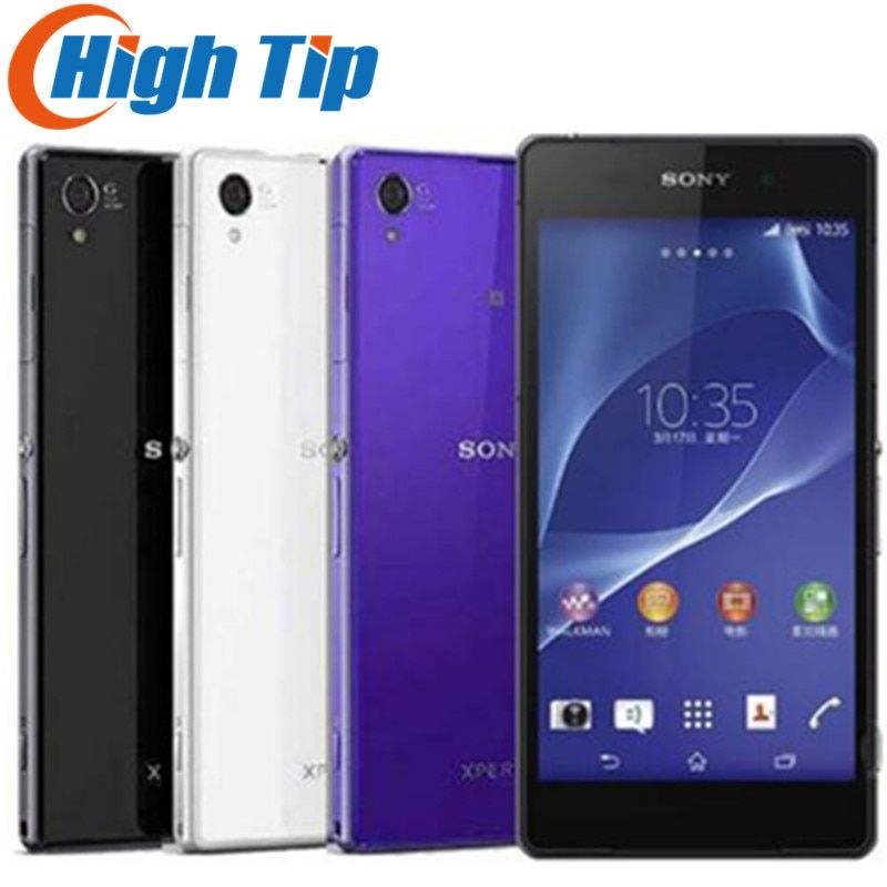 Unlocked Original Sony Xperia Z2 D6503 Android Quad Core Mobile Phone GSM WCDMA 4G LTE RAM 3GB ROM 16GB 5.2 Inch 20MP Camera