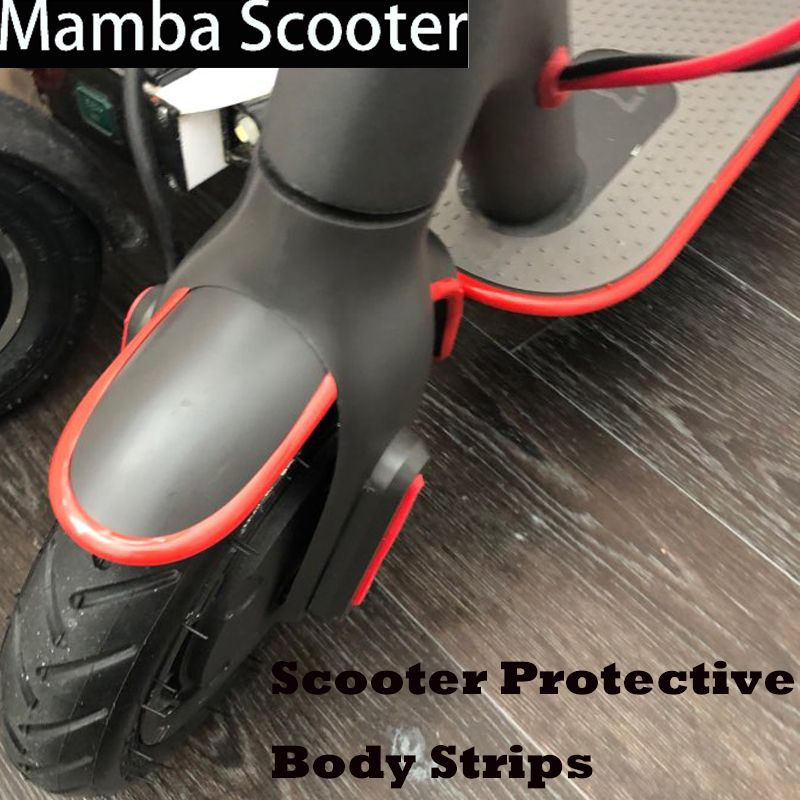 Bumper Protective Scooter Body Strips Sticker Tape for Xiaomi Mijia M365 Electric Skateboard Car Scooter Parts Decorative Strips