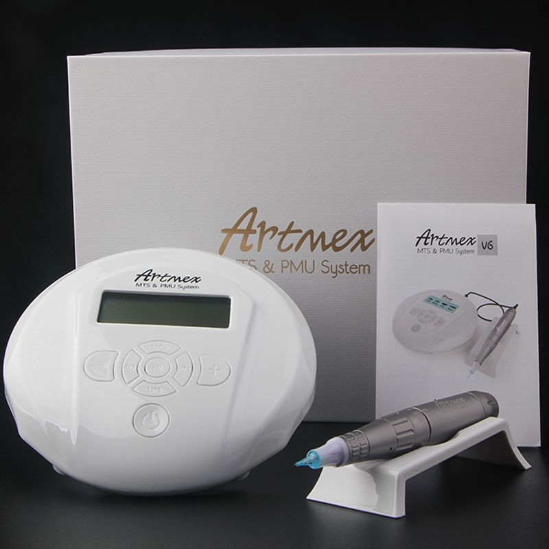 Permanent Make-Up Augenbrauen Tattoo maschine Mit Digital Control Panel Mikropigmentation Gerät Auge Stirn Lip Pen Dreh Artmex V6