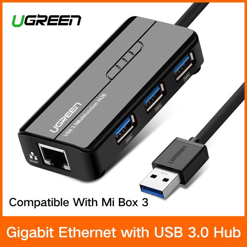 Ugreen USB Ethernet USB 3.0 2,0 zu RJ45 HUB für Xiao mi mi Box 3 Android TV Set-top Box ethernet Adapter Netzwerk Karte USB Lan