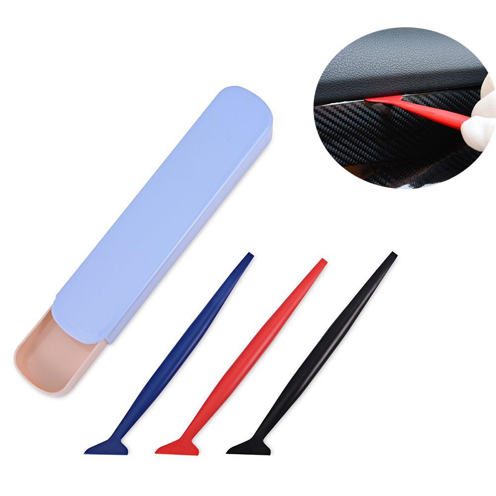 EHDIS 3pcs Car Wrap Tools Set 3D Carbon Fiber Vinyl Film Wrapping Soft Squeegee Auto Window Tint Scraper Car Styling Accessories