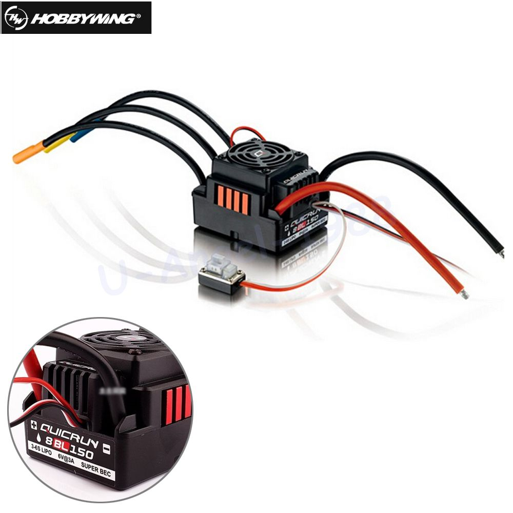 Original Hobbywing Quicrun 8BL150 Brushless Waterproof Sensorless 150A ESC Rock Crawler ESC For 1/8 Rc Car