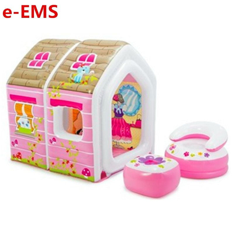 Männliche Mädchen Spielen Haus Spielzeug Kinder Zelt Cartoon Prinzessin Haus Aufblasbare Indoor Spiel Zimmer Meer Ball Pool G2014