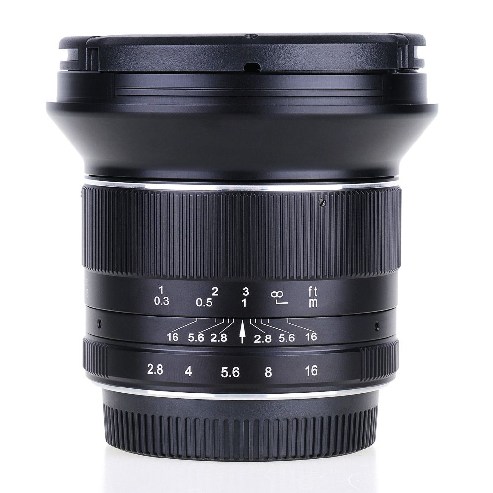 12mm f2.8 Ultra Wide Angle Lens for Sony E-mount APS-C Mirrorless Cameras A6500 A6300 A7 Manual Focus Prime Fixed Lens