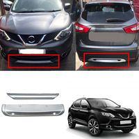 Подходит для Nissan Qashqai Dualis J11 2014 2015 2016 2017 ABS экстерьера автомобиля передний и задний бампер занос протектор гвардии заглушка 2 шт.