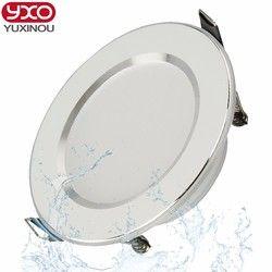 Vente chaude 5 W 7 W 9 W Étanche LED Downlight Dimmable Chaud blanc Froid Blanc 3 Couleur Encastré LED Lampe Spot Light AC85-265V