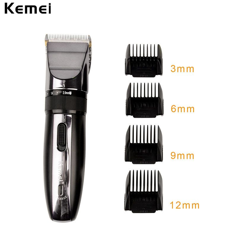 Kemei Professional Hair Clipper Rechargeable Hair Trimmer Razor For Men Baby Cordless Beard Trimmer Shaver Hair Cutting Machine