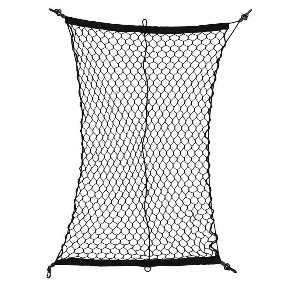 New Arrival Car Cargo Net Luggage Holder Trunk Interior Mesh Net Storage Bag Tidying With 4 Hooks Black 100 * 70cm Drop shiping