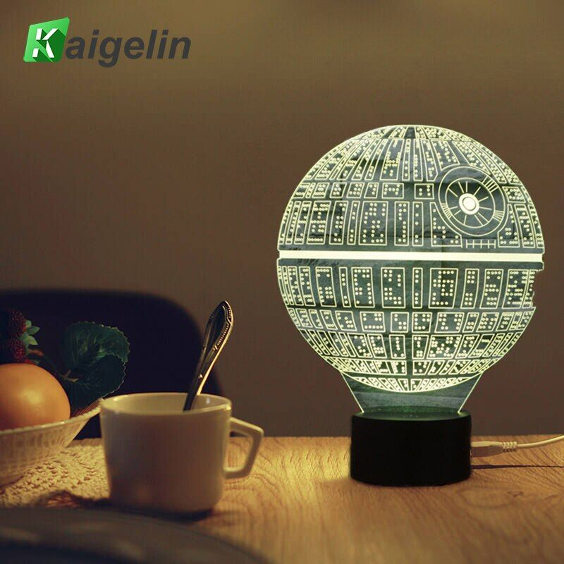 3D Lamp <font><b>Star</b></font> Wars Led Night Light Novelty USB Desk Lamp Kids Touch Sensor LED Table Light 7 Colors Changing Lava Lamp Nightlight