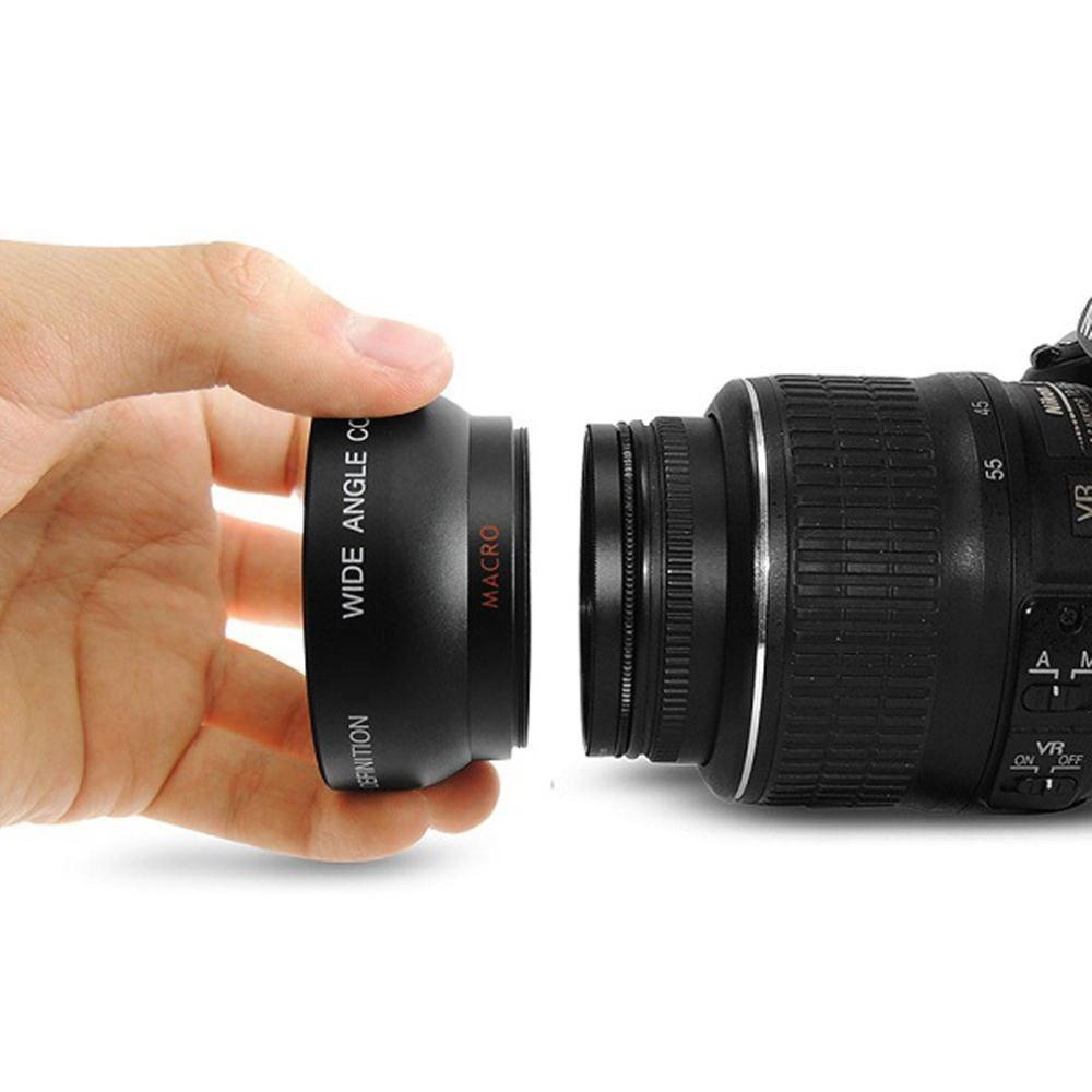 Nouvelle Arrivée 1 set 52 MM 0.45x Grand Angle Macro Objectif pour Nikon D3200 D3100 D5200 D5100 Haute Résolution Macro Lentille de baisse gratuite
