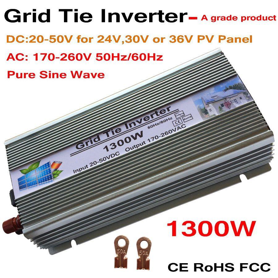 1300 watt Grid Tie Solar Inverter, 18 v, 30 v, 36VDC, max 1500 watt solar-oder wind power eingang, MPPT funktion, hohe qualität, freies verschiffen!!