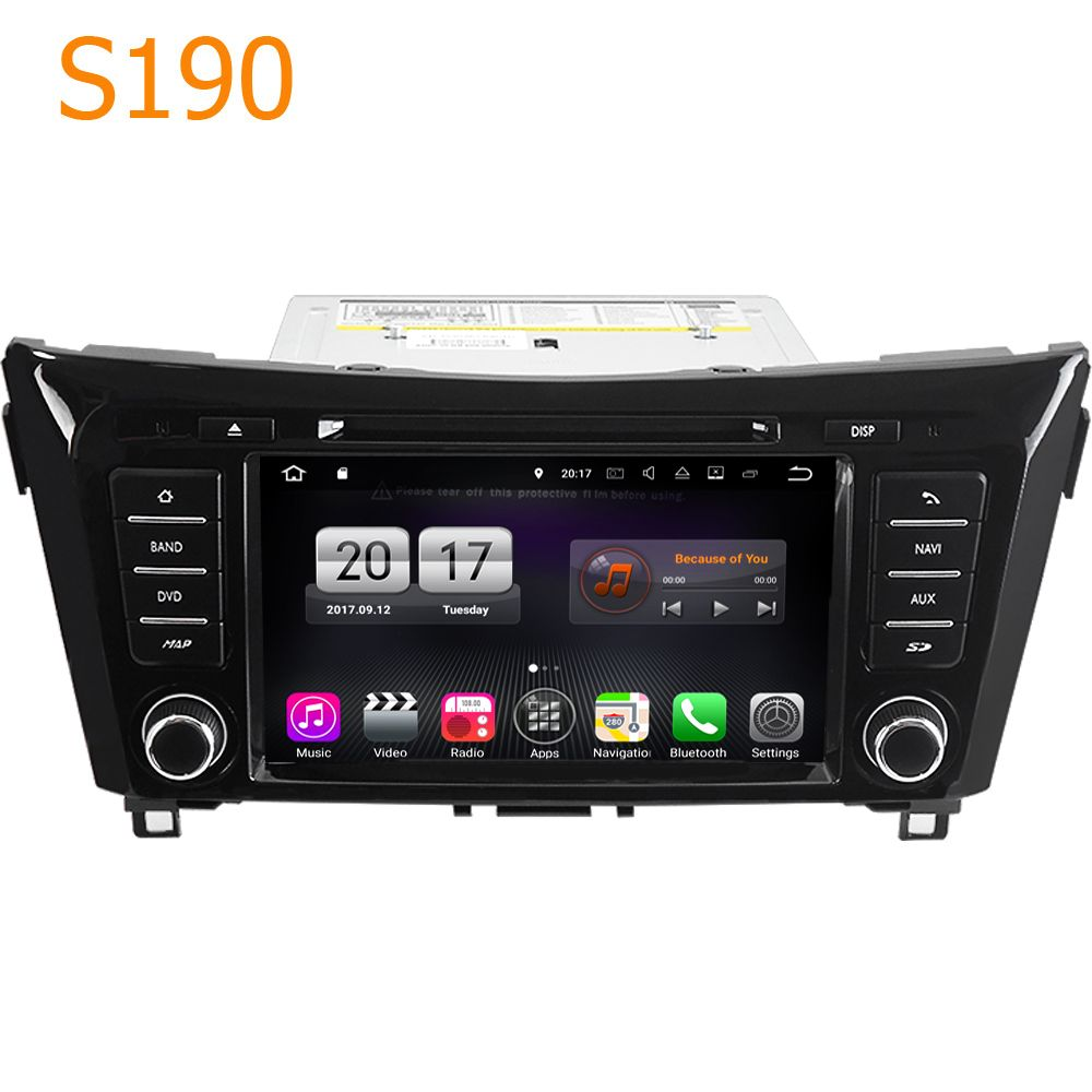Road Top Winca S190 Android 7.1 System 4 Core CPU Car GPS DVD Player Head Unit for Nissan Qashqai X-Trail X Trail 2014 - 2016