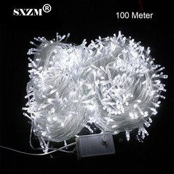 SXZM 10M 20M 30M 50M 100M LED string Fairy light holiday decoration AC220V 110V Waterproof outdoor light with controller