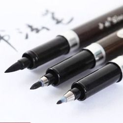 3 pcs/lot Calligraphy Pen Japan Material Brush for Signature Chinese Words Learning Stationery Art Marker Pens School Supplies